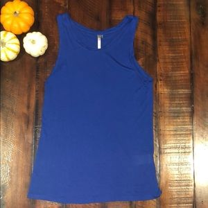 Blue tank top from Banana Republic